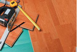 The placement and the installation of a laminate floor