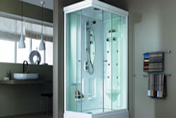 Place a shower cabs